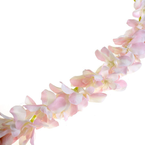 Artificial Plumeria Garland, Blush Pink, 86-Inch