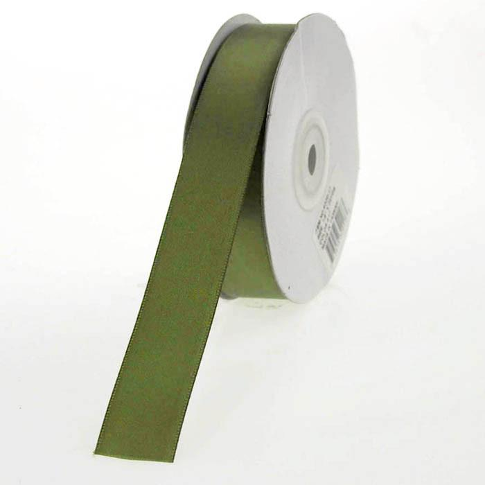 Double Faced Satin Ribbon, 7/8-inch, 25-yard, Moss Green