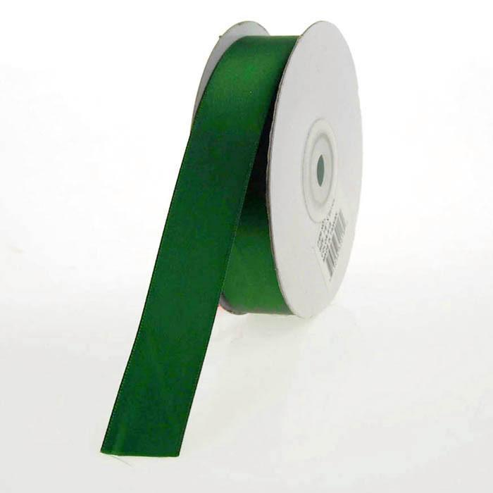 Double Faced Satin Ribbon, 7/8-inch, 25-yard, Emerald Green