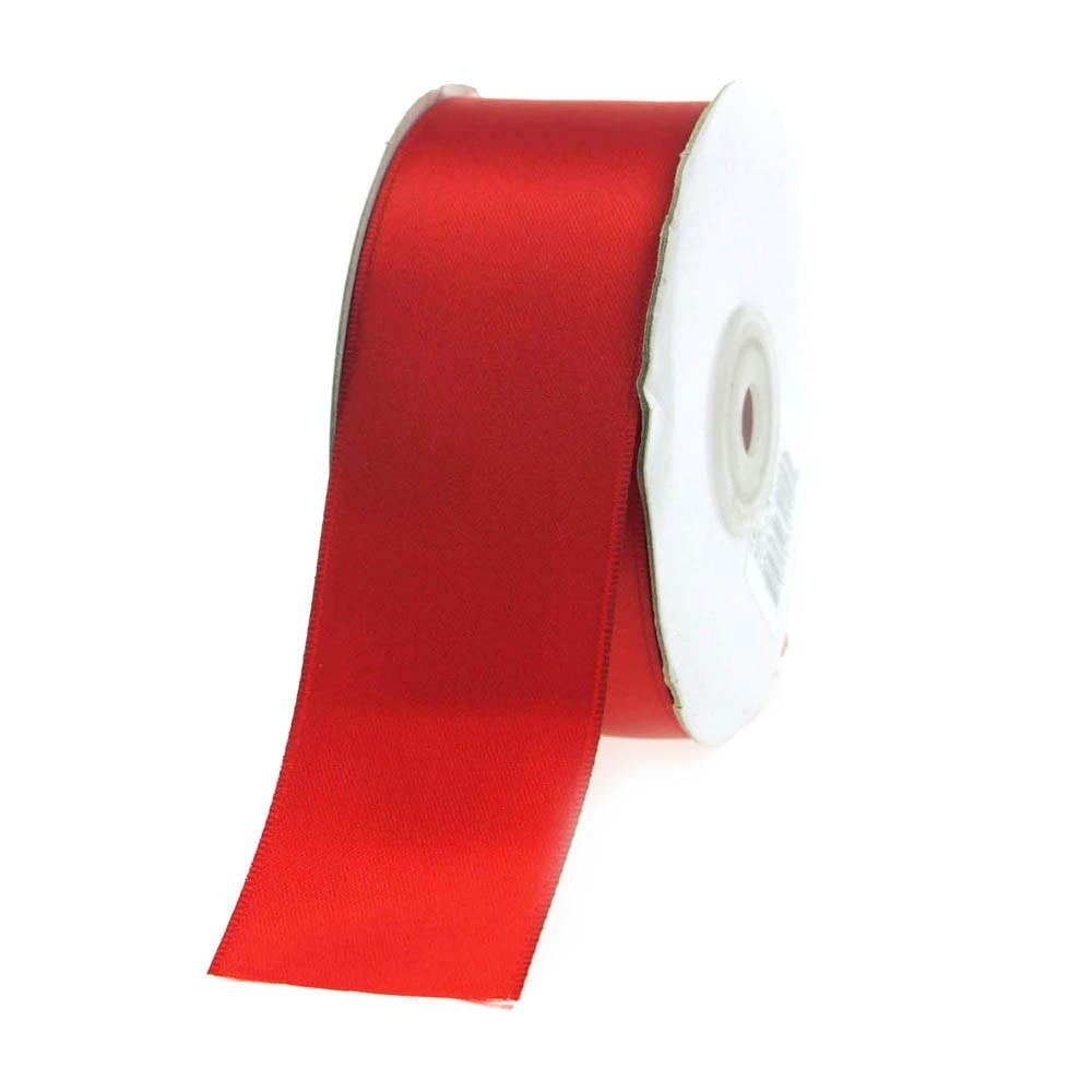 Double Faced Satin Ribbon, 1-1/2-inch, 25-yard, Red