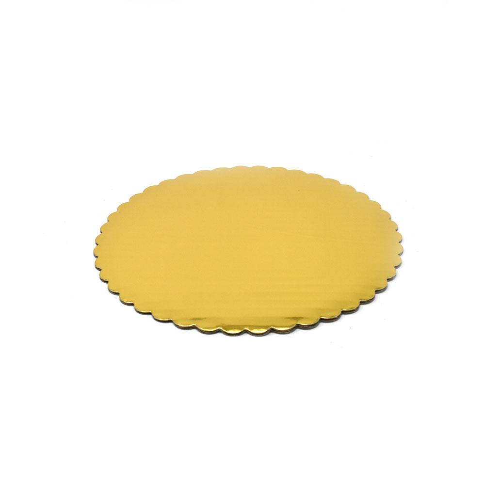 Round Scalloped Cake Circles, Gold, 8-Inch, 6-Piece