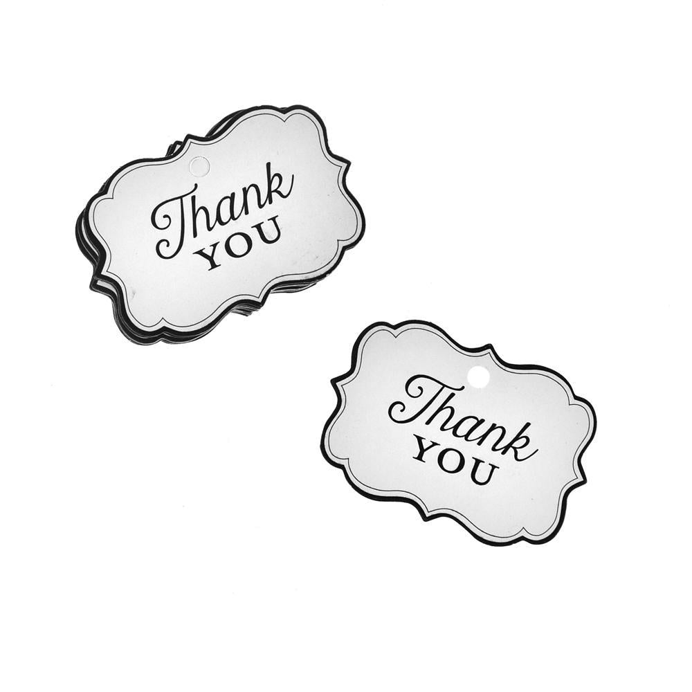 Thank You Tag, White, 3-1/2-Inch, 25-Piece
