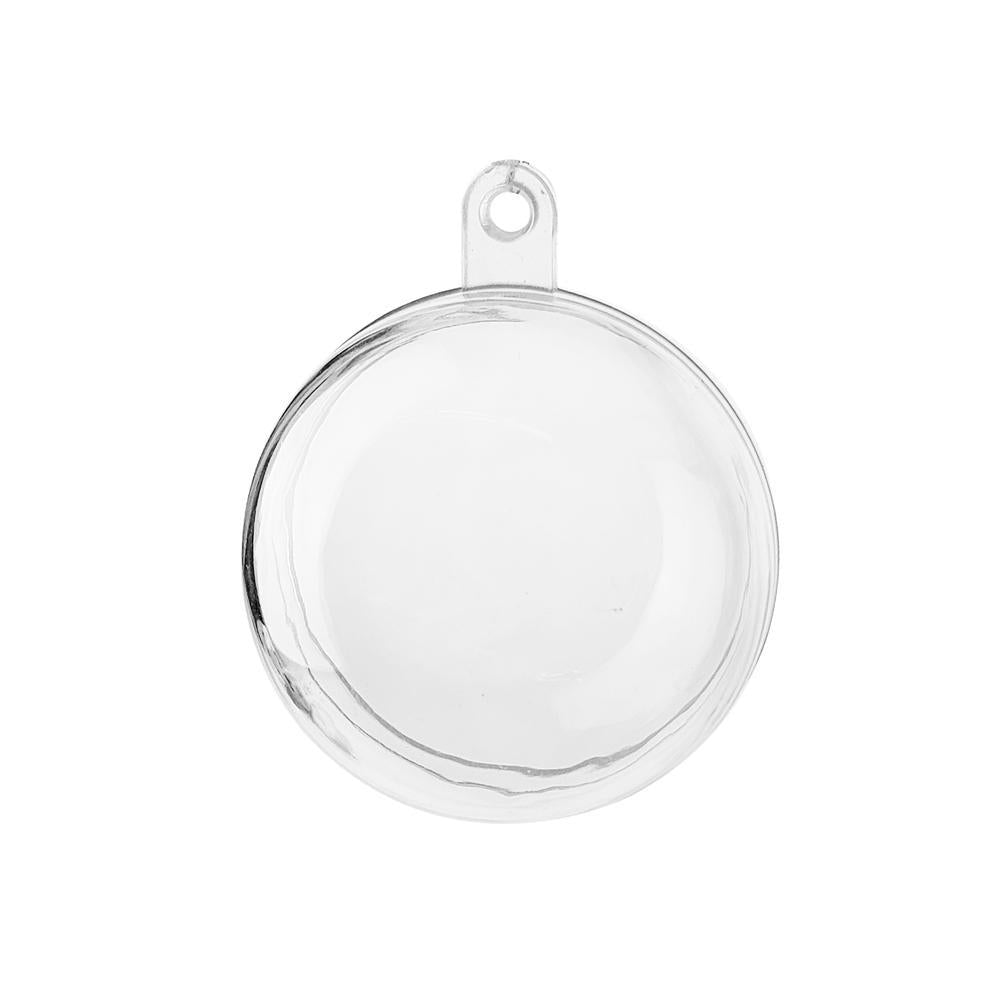 Fillable Plastic Clear Ball Ornament, 1-1/2-Inch, 12-Count