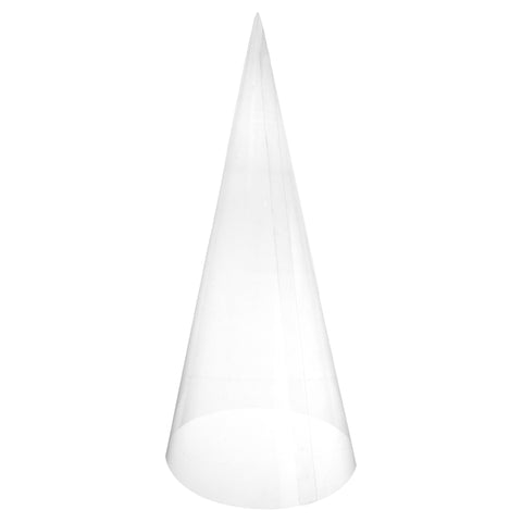 Craft Plastic Transparent Cone, 15-Inch