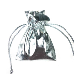 Metallic Lame Gift Pouch Bag, 3-Inchx 4-Inch, 12-Piece