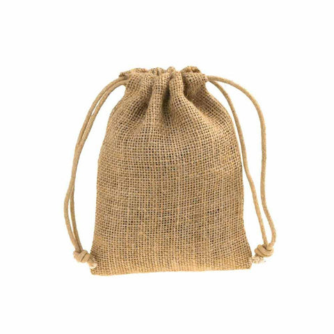 Burlap Favor Bags with Drawstrings, 12-Piece, 3-Inch x 5-Inch