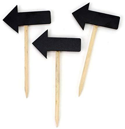 Wooden Chalkboard Stakes, Arrow, 5-Inch, 3-Count
