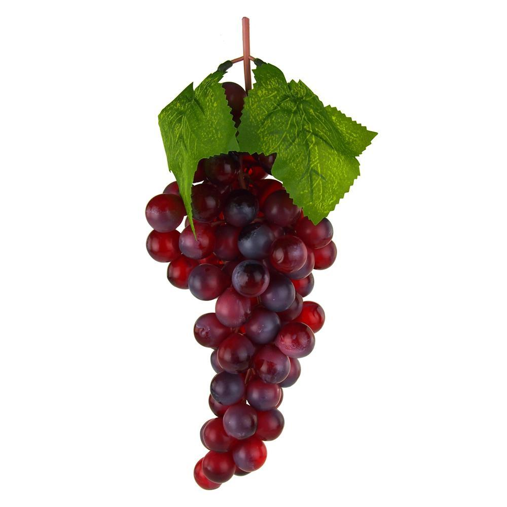 Artificial Grapes Fruit Cluster, Burgundy, 10-Inch