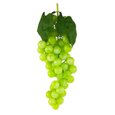Artificial Grapes Fruit Cluster, Green, 10-Inch