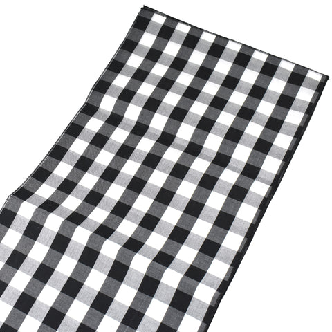 Buffalo Check Plaid Table Runner, Black/White, 72-Inch x 14-Inch