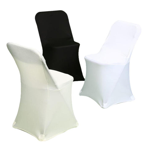 Ivory Spandex Party Event Folding Chair Cover