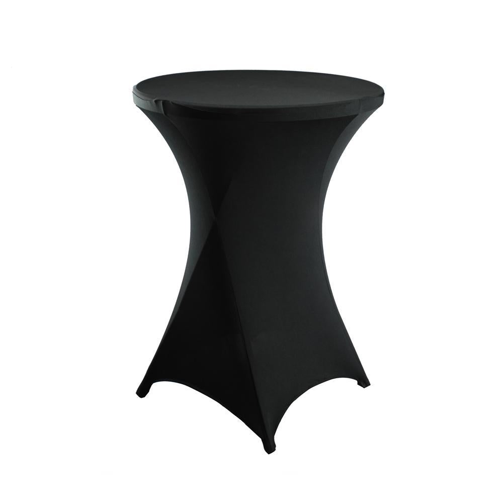 Round Spandex Cocktail Table Cover, 31-Inch, Black