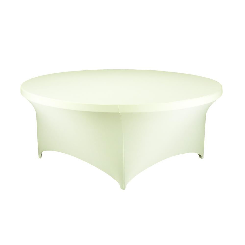 Round Spandex Table Cover, 60-Inch, Ivory
