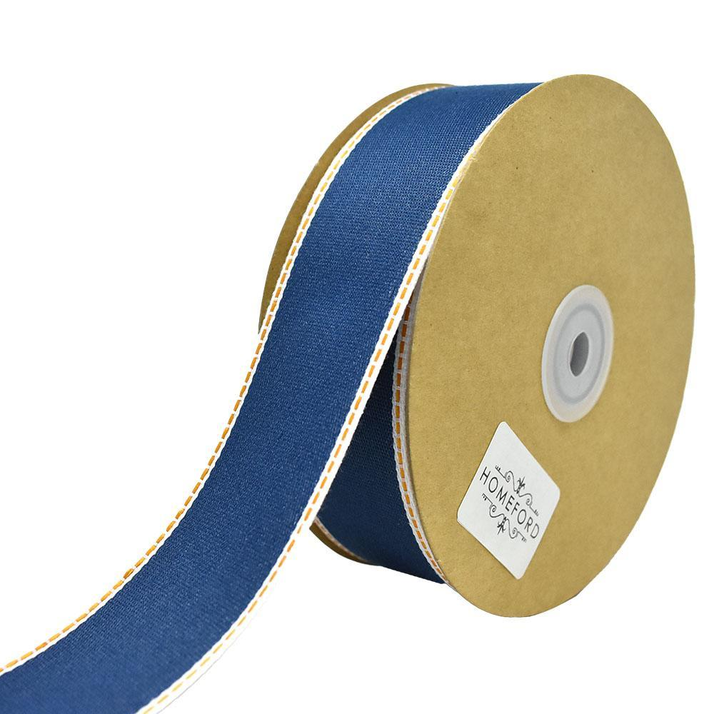 Denim Jeans Styled Wired Ribbon, 1-1/2-Inch, 25-Yard