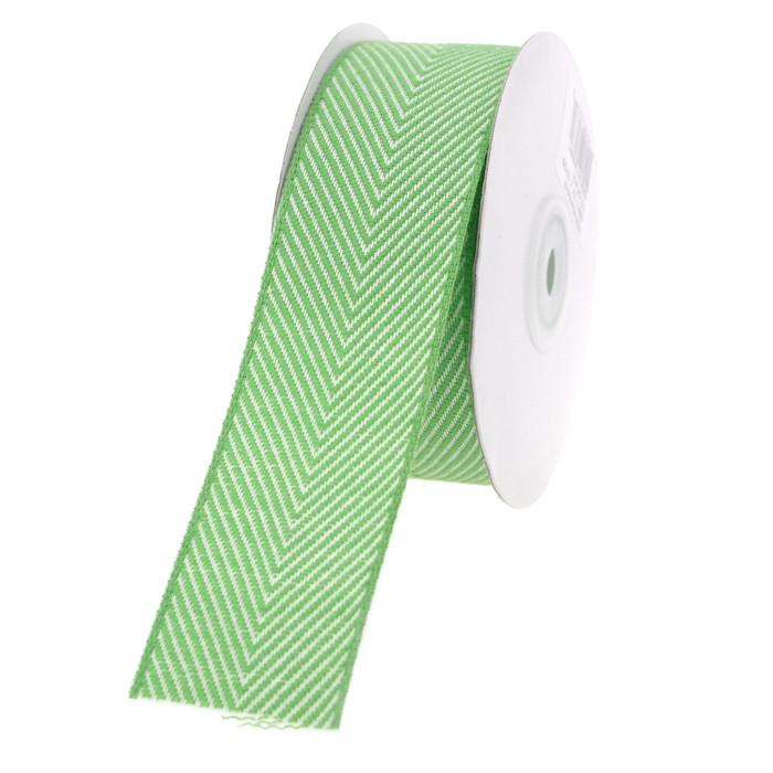 Chevron Herringbone Cotton Ribbon, 1-1/2-Inch, 10 Yards