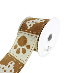 Doggie Paw Prints And Bones Wired Ribbon, 2-1/2-Inch, 10-Yard