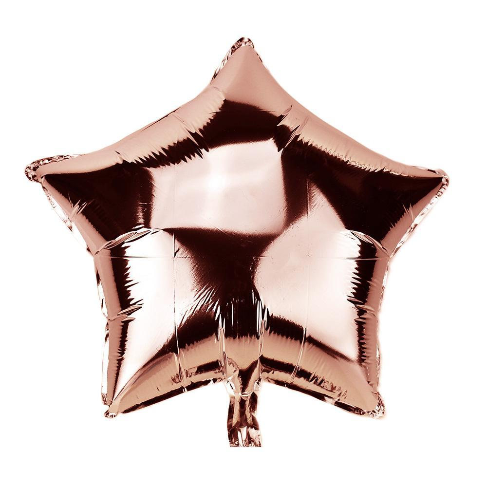 Star Shape Metallic Foil Balloon, 20-Inch, Rose Gold
