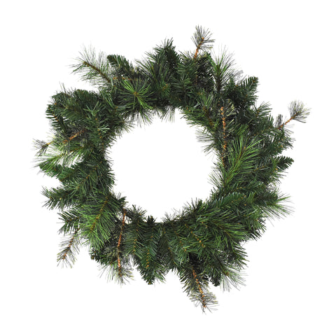 Artificial Cashmere Hardneedle Wreath, 15-Inch