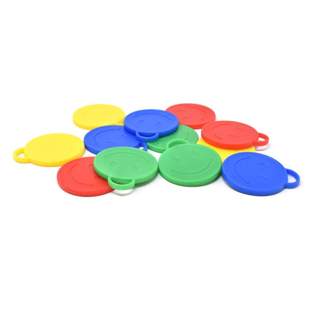 Plastic Smiley Face Balloon Weights, 2-Inch, 50-Piece