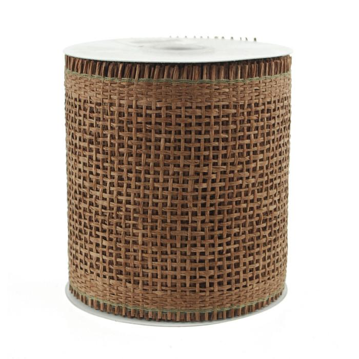 Paper Burlap Mesh Ribbon, 4-1/4-inch, 10-yard, Brown
