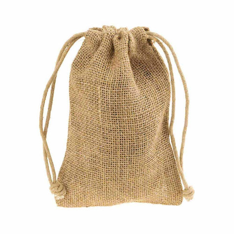 Burlap Favor Bags with Drawstrings, 12-Piece, 5-3/4-Inch x 9-3/4-Inch