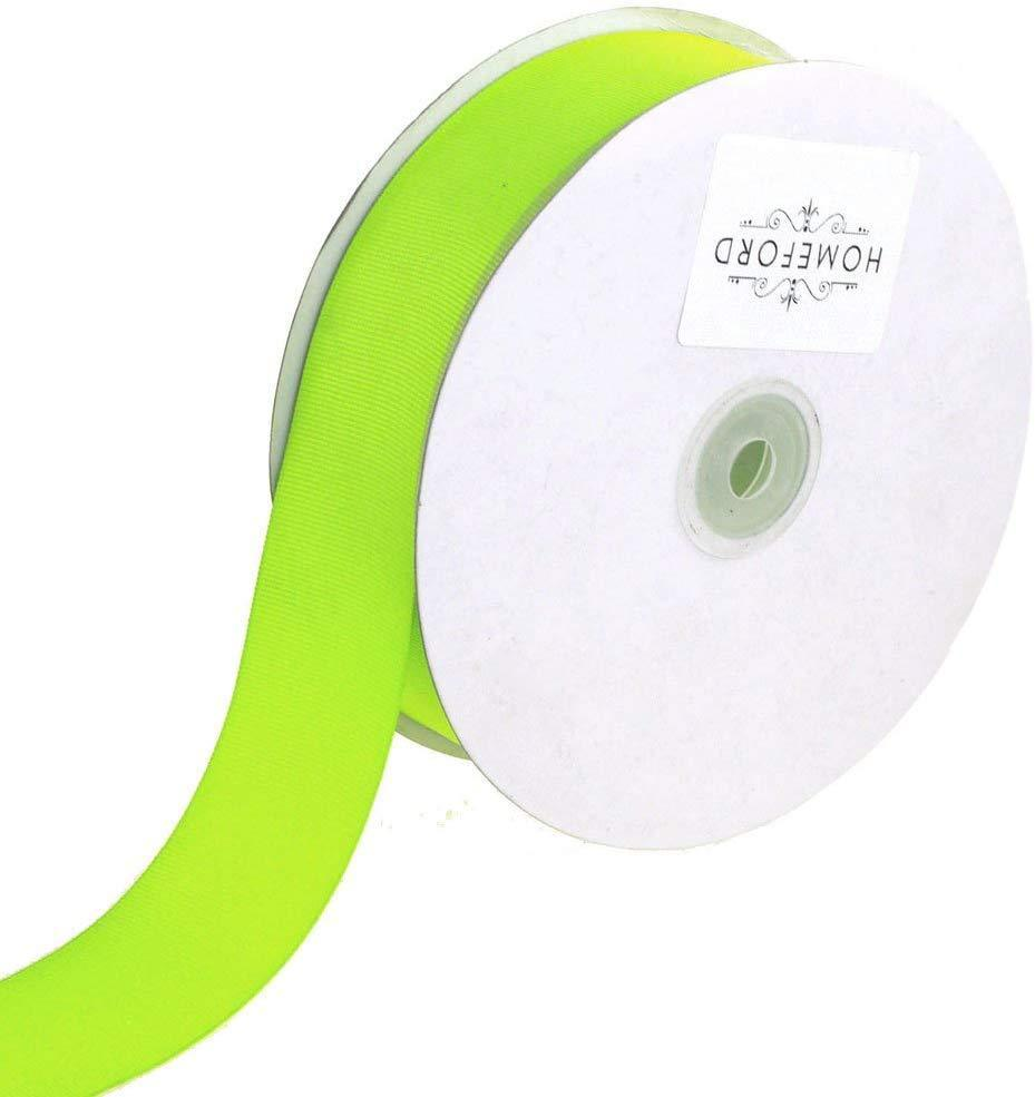 Solid Grosgrain Ribbon, 7/8-Inch, 50 Yards, Neon Yellow