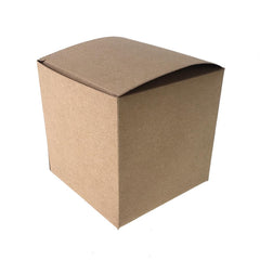 Cube Paper Gift Favor Boxes, 3-1/2-Inch, 12-Count, Natural
