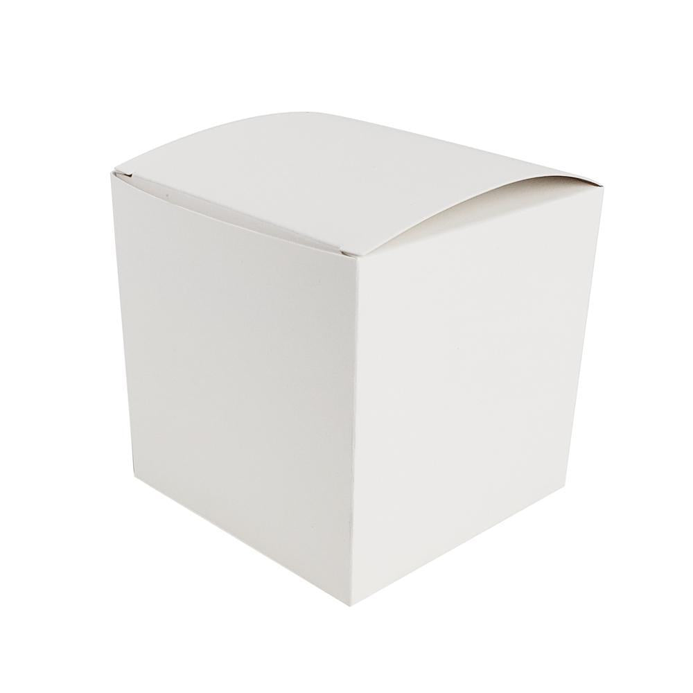 Cube Paper Gift Favor Boxes, 3-1/2-Inch, 12-Count, White