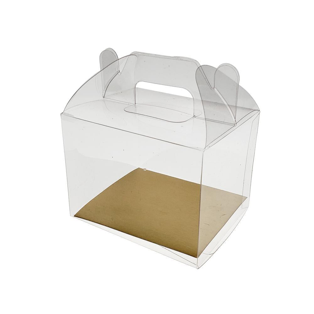 Rectangle PVC Box with Handle, 4-Inch x 3-Inch, 12-Count, Clear
