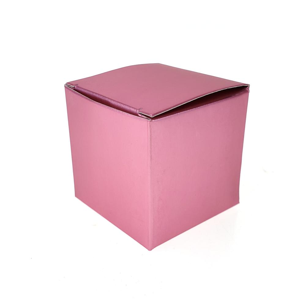 Cube Metallic Paper Gift Favor Boxes, 2-Inch, 24-Count