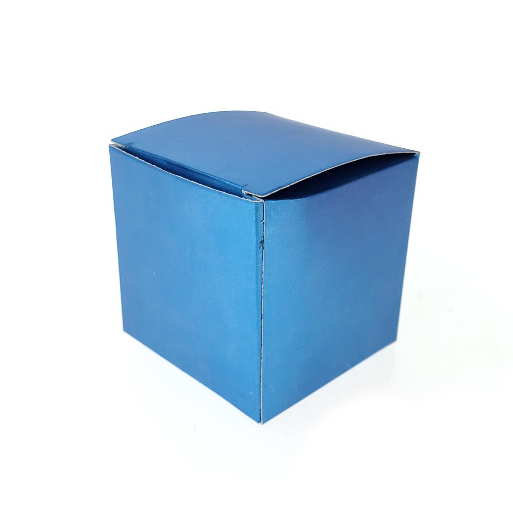 Cube Metallic Paper Gift Favor Boxes, 2-Inch, 24-Count, Turquoise