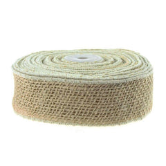 Burlap Jute Ribbon Wired Edge, 2-inch, 10 Yards,
