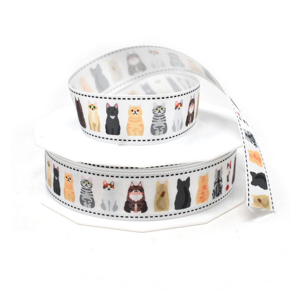 Front and Back Cats Precious Pets Satin Ribbon, 7/8-Inch, 20-Yard