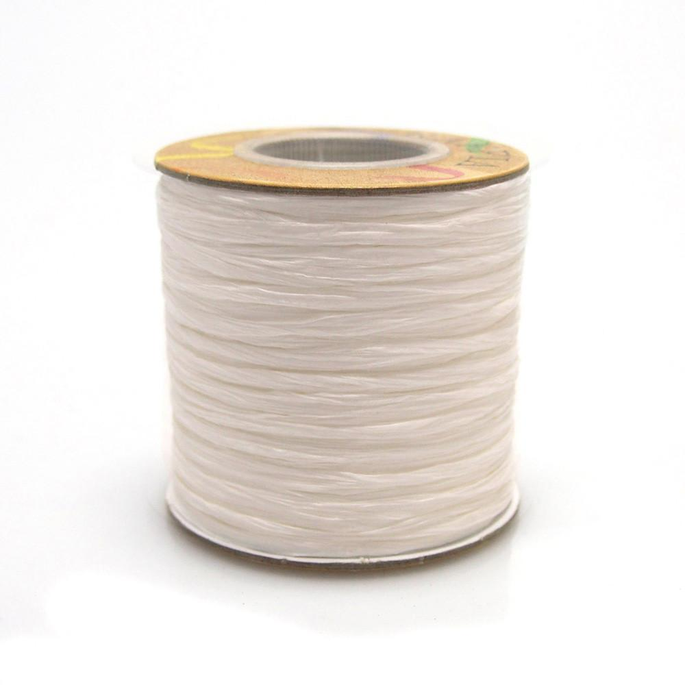 Matte Raffia Ribbon, 1/4-Inch, 100-Yard, White