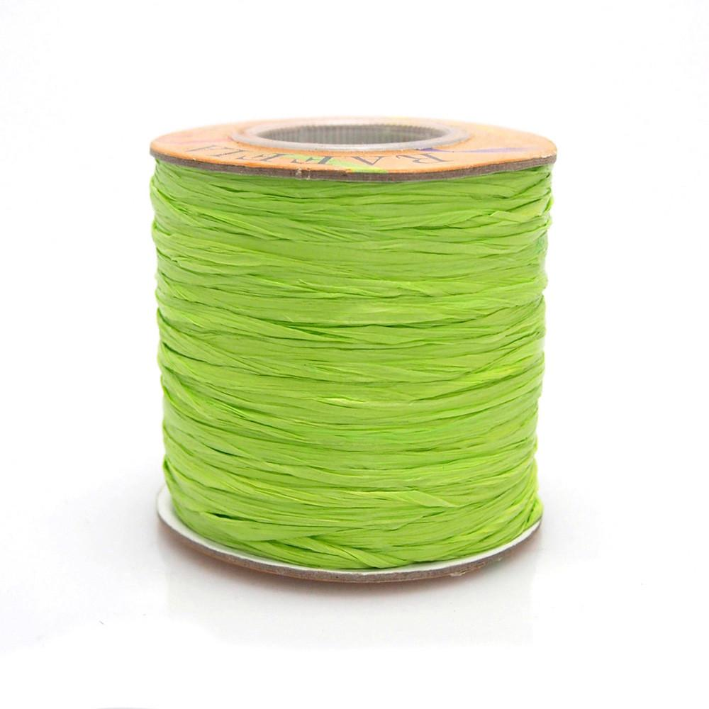 Matte Raffia Ribbon, 1/4-Inch, 100-Yard, Apple Green