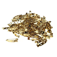 Metal Pin Back Clasp, 1-Inch, 144-Count, Gold
