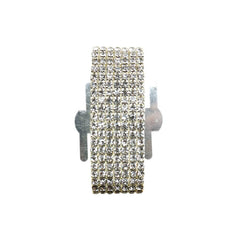 Corsage Wristlet with Rhinestone Band, 1-Inch