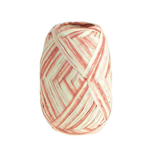 Paper Raffia Rolls, Two-tone, 18mm, 100 Yards, Mauve