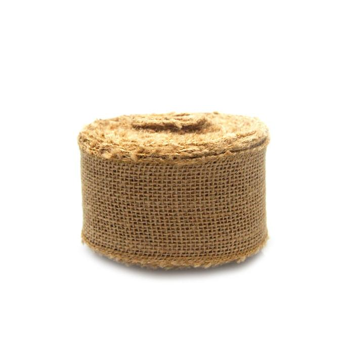 Natural Burlap Roll Sewn-Edge, 2-1/2-Inch, 10 Yards