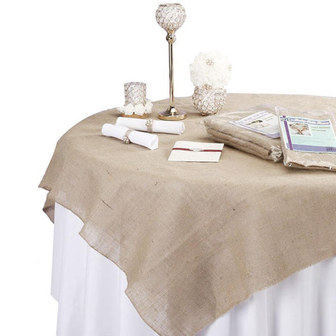 Burlap Table Overlay, 80-Inch x 80-Inch