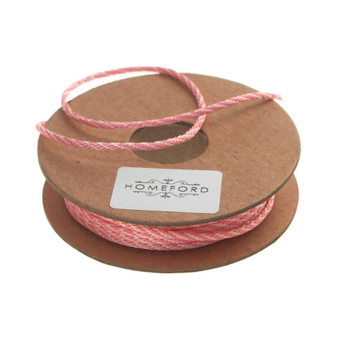 Bakers Twine Ribbon, Made In England, 10 Ply, 22 Yards, Light Pink