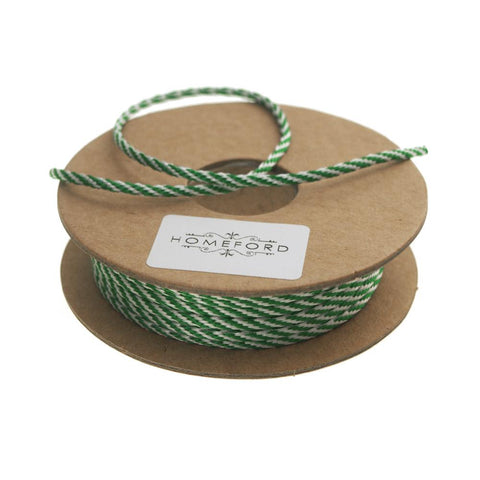 Bakers Twine Ribbon, Made In England, 10 Ply, 22 Yards, Emerald Green