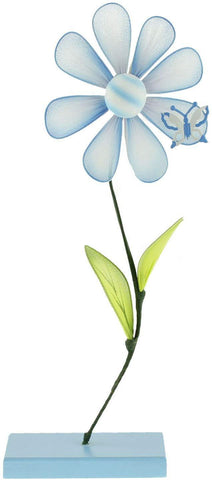 Flower Place Card Holder, 10-inch, Light Blue