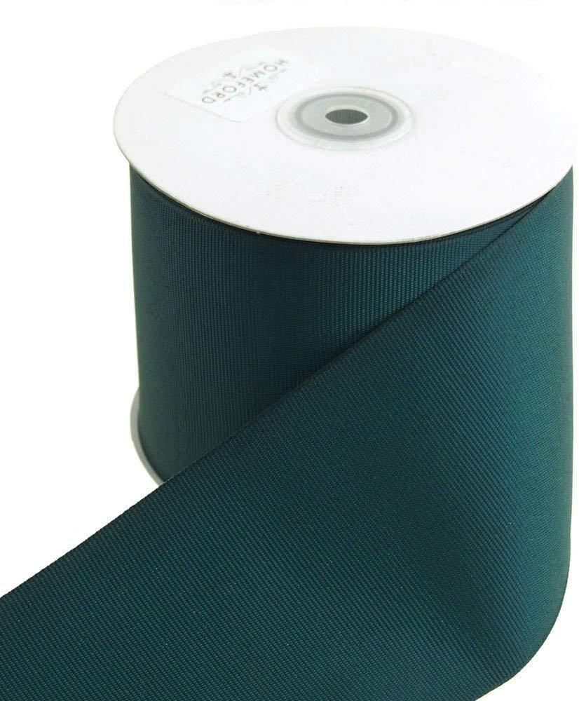 Solid Grosgrain Ribbon, 3-Inch, 25 Yards, Hunter Green