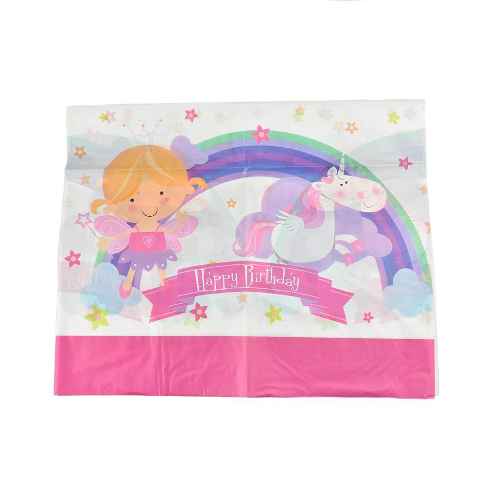 Magical Fairy Birthday Party Vinyl Table Cover, 54-Inch X 72-Inch