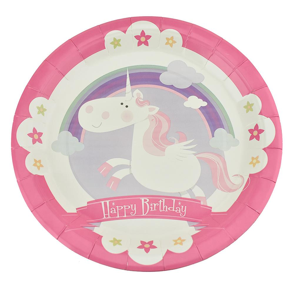 Magical Fairy Birthday Party Paper Plates, 9-Inch, 12-Count