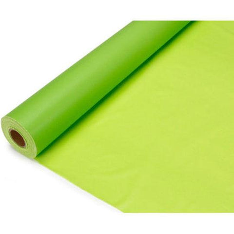 Banquet Plastic Table Roll Uncut, 40-inch x 100-feet, Apple Green