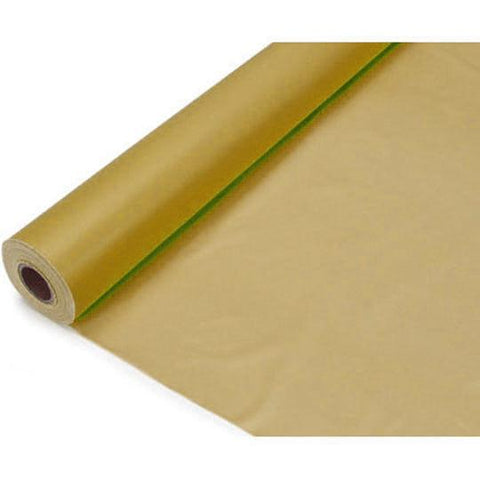 Banquet Plastic Table Roll Uncut, 40-inch x 100-feet, Gold