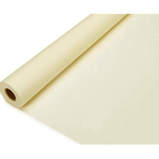 Banquet Plastic Table Roll, 40-Inch x 100-Feet, Ivory