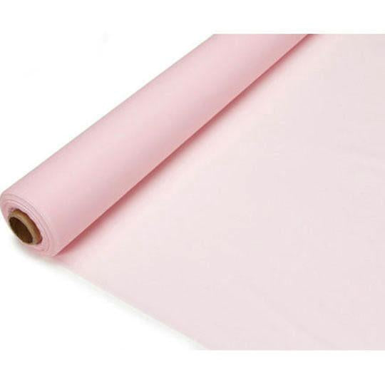 Banquet Plastic Table Roll Uncut, 40-Inch x 100-Feet, Light Pink